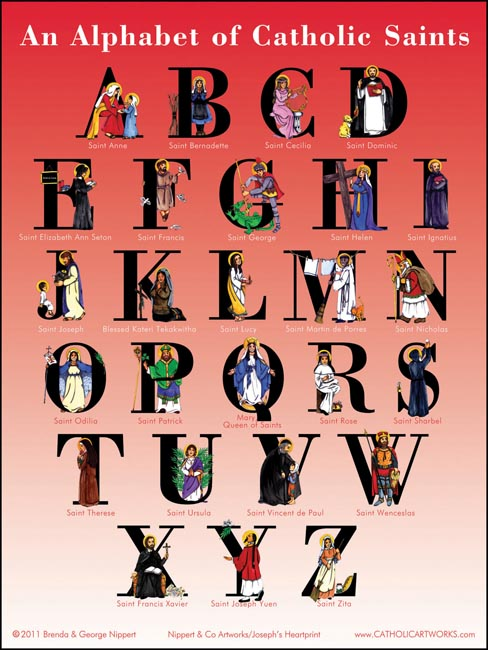 An Alphabet of Catholic Saints (poster)