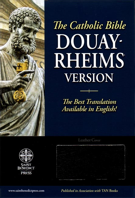 Douay-Rheims Black Leather Bible