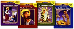 Life of Jesus 4 Coloring Book set