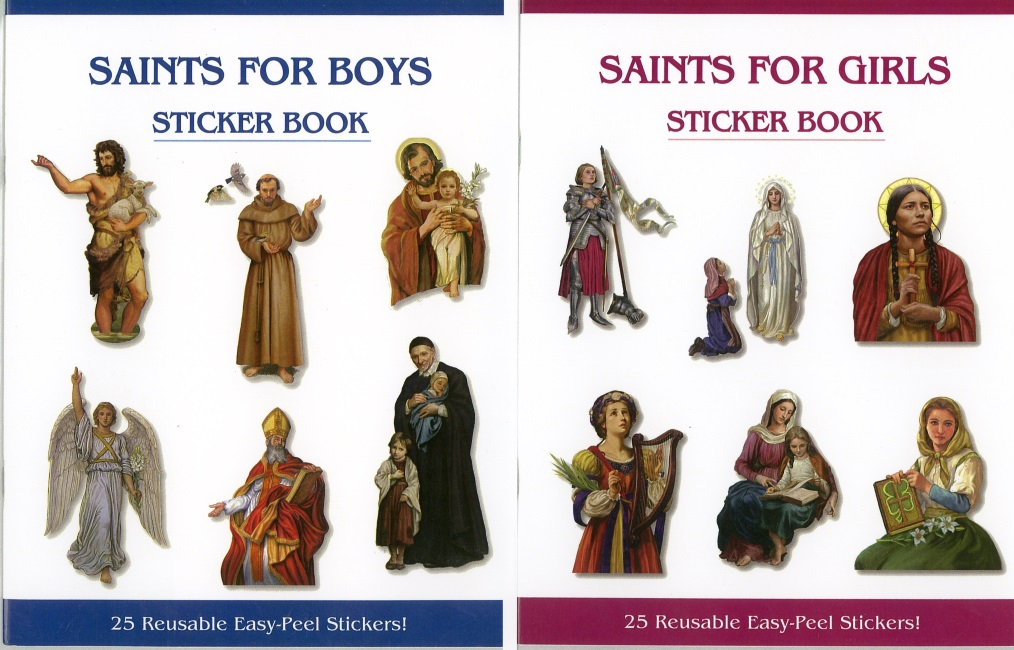 Saints for Boys and Girls Sticker Book Set