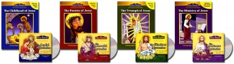 Mysteries of the Rosary CD and Coloring Book Set