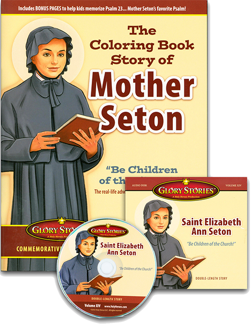 Glory Stories: St. Elizabeth Ann Seton CD and Coloring Book
