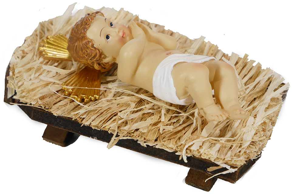 Infant Jesus in Manger - 5 inch Figurine
