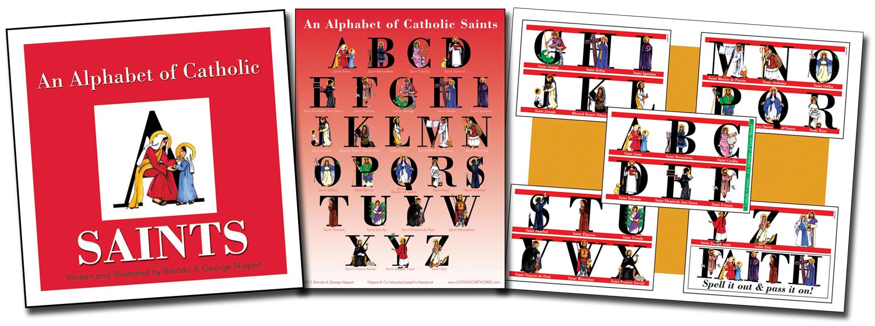 An Alphabet of Catholic Saints set