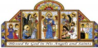 All Saints Stained Glass Poster Cards