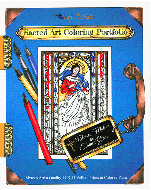 Blessed Mother in Stained Glass Coloring Portfolio