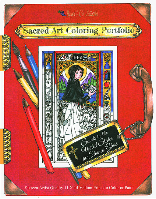 U.S. Saints Stained Glass Coloring Portfolio