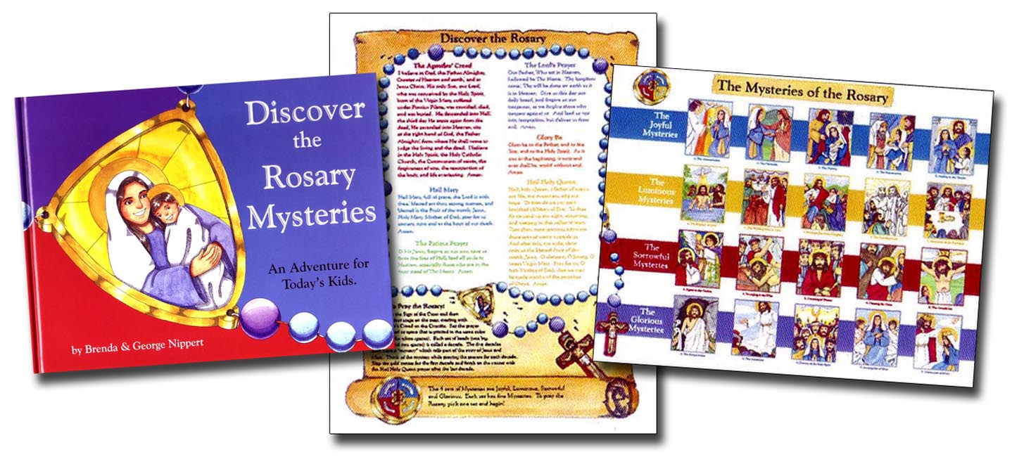 Discover the Rosary Mysteries Book and Poster Set