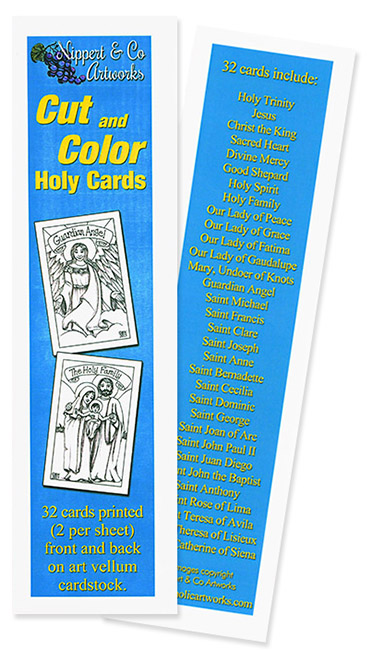 Cut and Color Holy Cards
