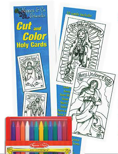 Cut and Color Holy Cards w/ Triangular Crayons