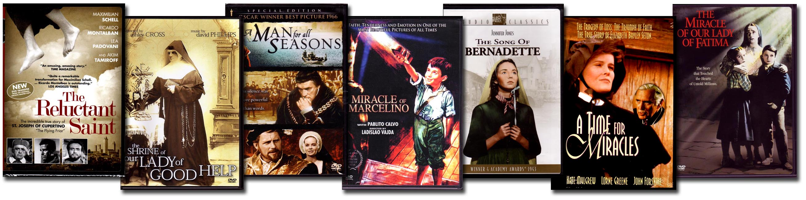 Catholic DVDs Best Selling Saints Set of 7