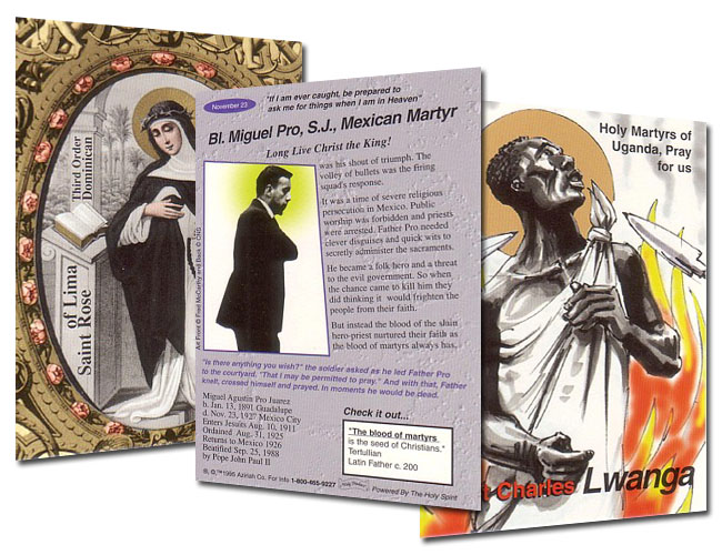 Holy Traders Set # 2 Saint Trading Cards