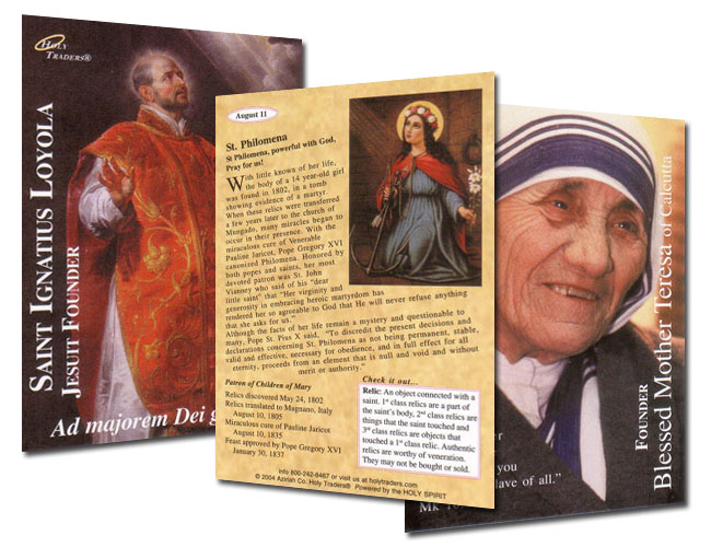 Holy Traders Set # 4 Saint Trading Cards