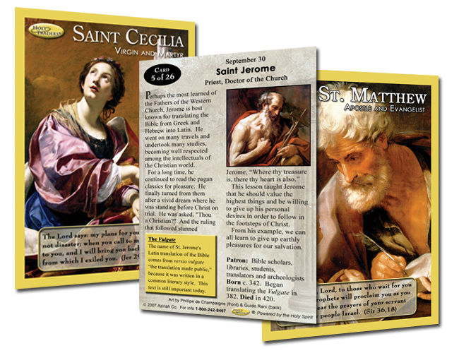 Holy Traders Set # 5 Saint Trading Cards
