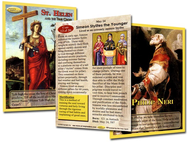 Holy Traders Set # 6 Saint Trading Cards