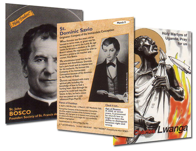 Holy Traders Sets 1-4 (Saint Trading Cards)