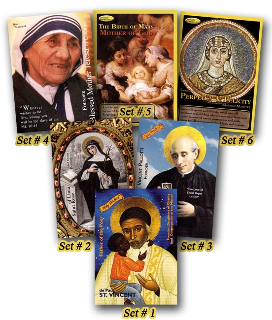 6 Pack Holy Traders Saint Trading Cards