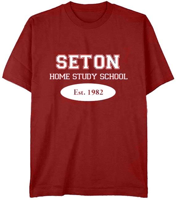 Seton T-Shirt: Est. 1982 Cardinal Red -Youth Large