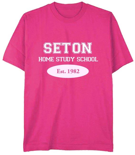 Seton T-Shirt: Est. 1982 Pink - Youth Large