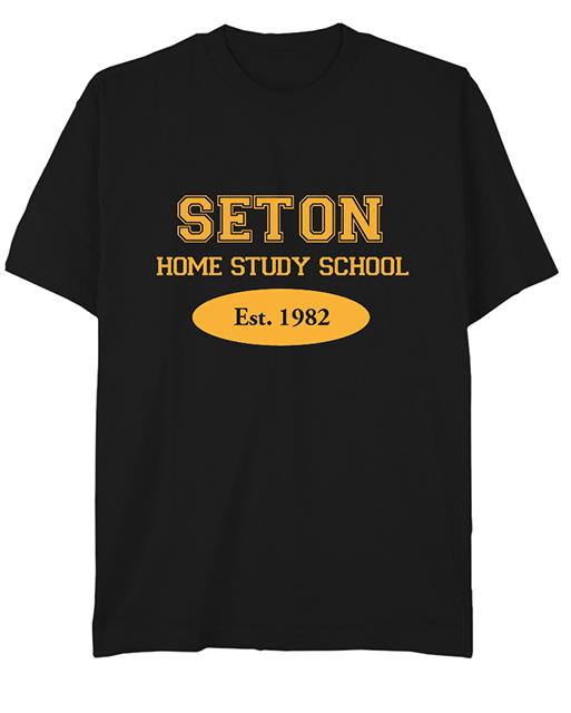 Seton T-Shirt: Est. 1982 Black - Youth Med.