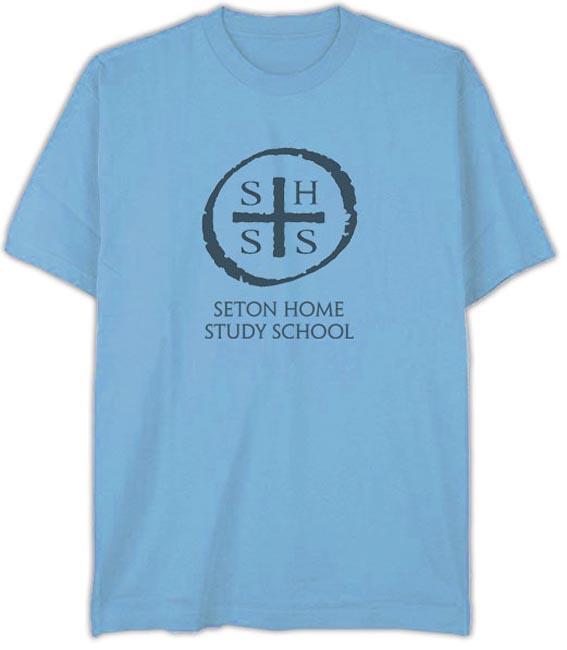 "T-Shirt ""SHSS"" Baby Blue - Adult Small"
