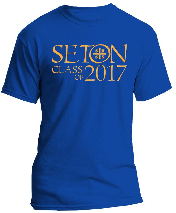Seton Class of 2017 T-Shirt Adult X-Large