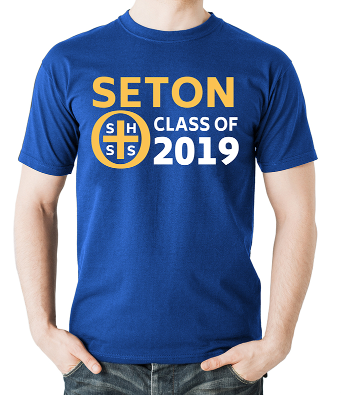 Seton Class of 2019 T-Shirt Adult 2-XL