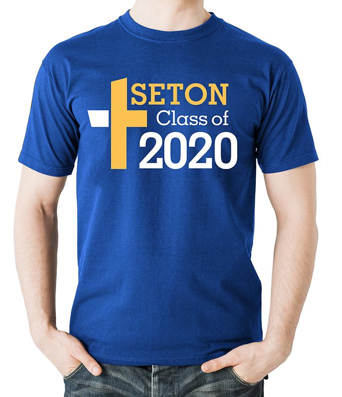 Seton Class of 2020 T-Shirt Adult 2-XL
