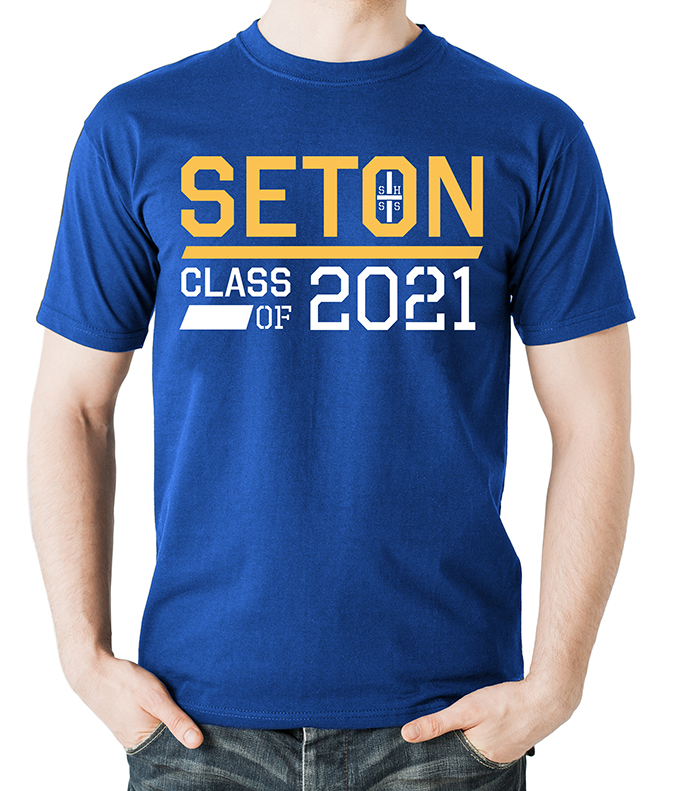 Seton Class of 2021 T-Shirt Adult 2-XL