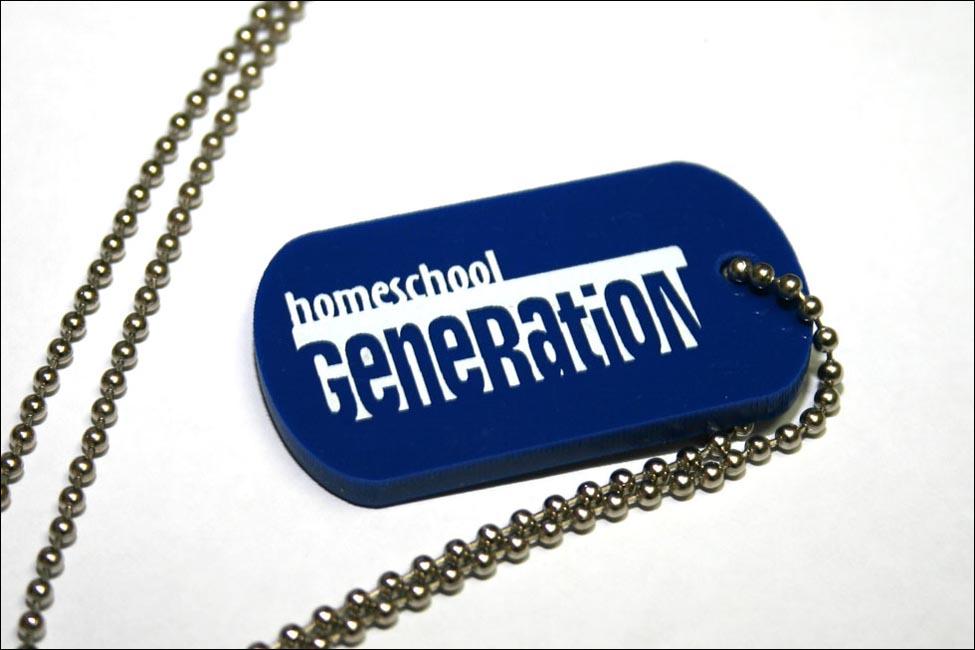 """Dog Tag - Blue """"Homeschool Generation"""""""