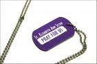 Dog Tag - Purple