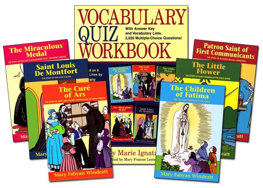 Vocabulary Quiz Workbook Set
