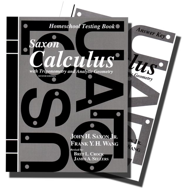 Saxon Calculus (2nd ed) Text Key/Tests with Key