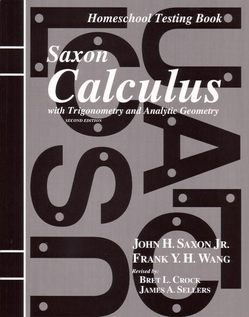 Saxon Calculus (2nd ed) Tests