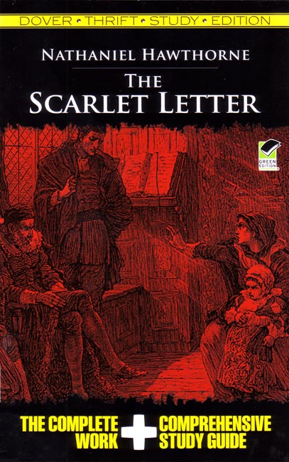 The Scarlet Letter Book Cover.The Scarlet Letter With Study Guide
