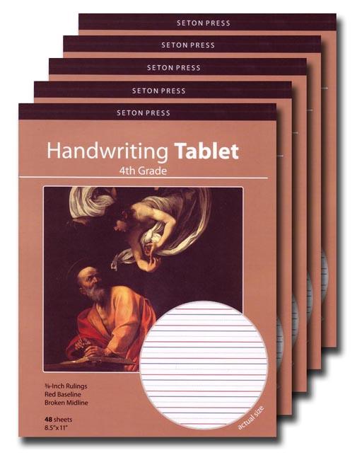 Grade 4 Handwriting Tablet - 5 pack