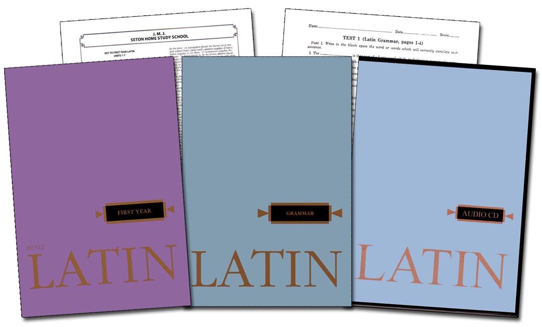 Latin 1 Books, Tests, Keys, & CD