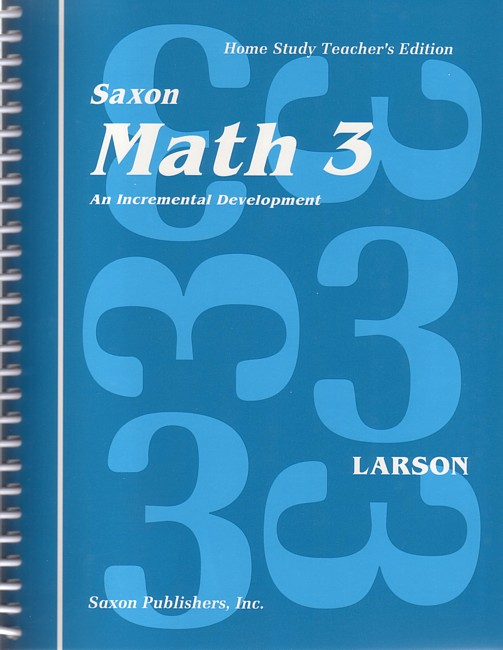 Saxon Math 3 Teacher's Manual