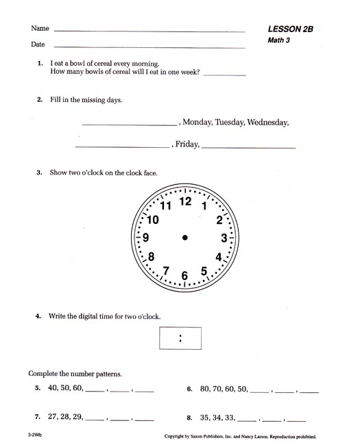 Worksheets Saxon Math 3 Worksheets saxon math 3 worksheets workbook part 1 2 plus facts cards