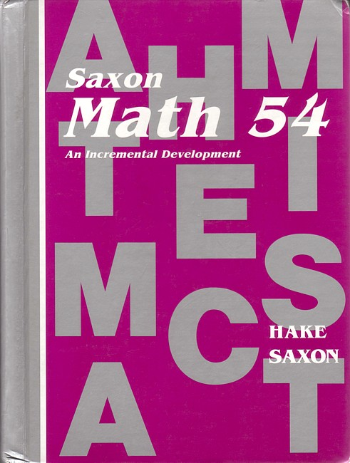 Saxon Math 54 (1st edition) Text (Used)