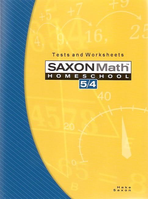 Saxon 54 3rd Edition Tests Worksheets Seton Educational