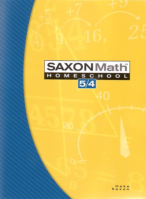 Saxon 54 (Homeschool, 3rd edition) Text
