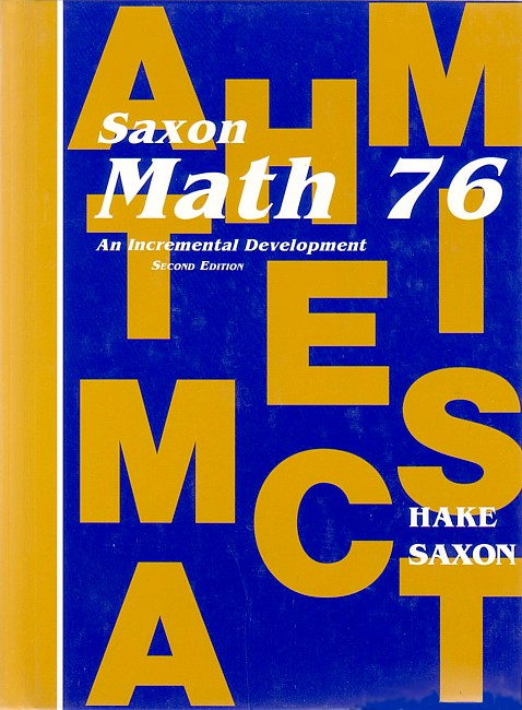 Saxon Math 76 (2nd edition) Text (Used)