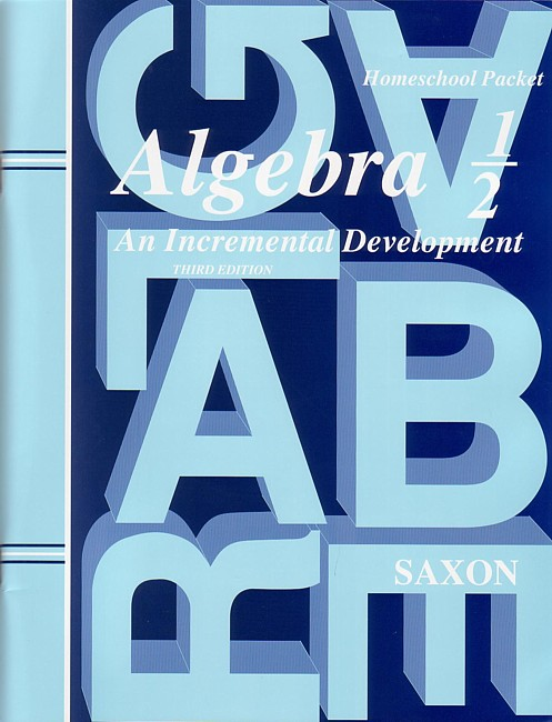 Saxon Algebra 1/2 (3rd edition) Text & Test Key
