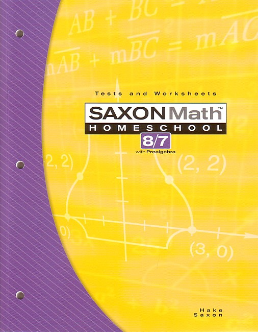 Saxon 87 (Homeschool, 3rd edition) Tests/Worksheets