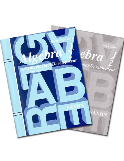 Saxon Algebra 1/2 (2nd Ed) Text Key/Test Packet - Seton Educational ...