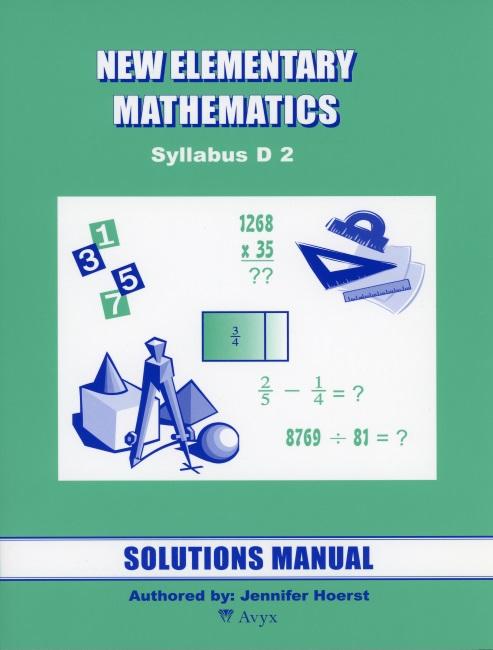 Singapore Math Grade 8 Sol  Manual (level 2)