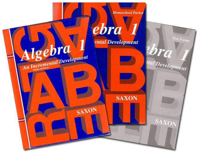 Saxon Algebra 1 3rd Ed. Home Study Kit Homeschool with Solutions Manual NEW!!