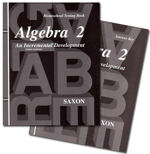 Saxon algebra 2 3rd ed text key test packet seton educational media saxon algebra 2 3rd ed test booklet with text key fandeluxe Choice Image