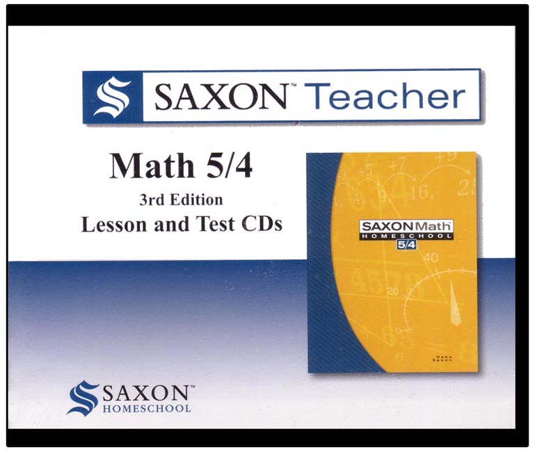 Saxon Teacher Math 54 3rd Edition